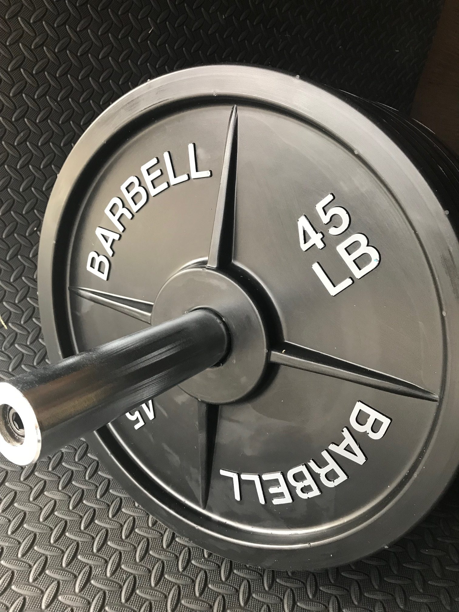 fake weights 45 lb barbell weight plates 5 pairs fake weights