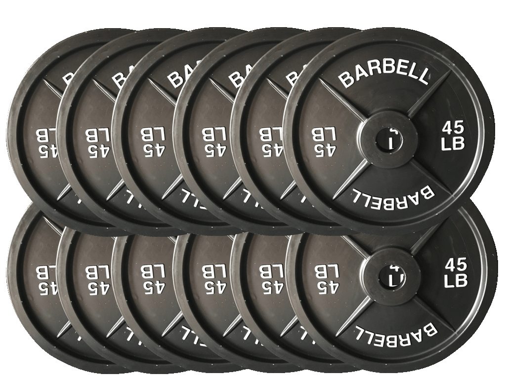 Fake Weights 45 Lb Barbell Weight Plates 6 Pairs