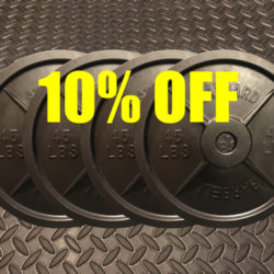 Save 10% off the best technique plates with fake weights two pair bundle.
