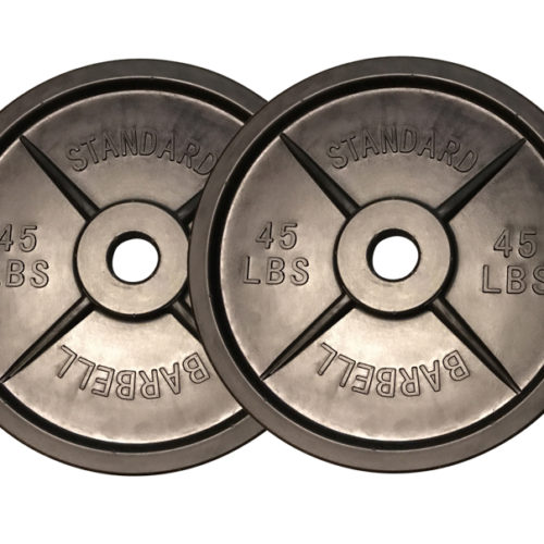 fake weights, fakeweights.com, buy fake weights, One pair of fake weights Barbells plates in all black color design.