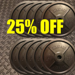 Save money on fake weights barbell bundles.