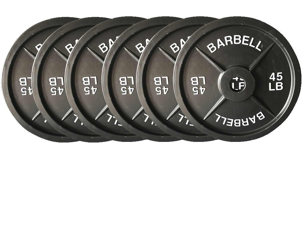 Dumbbells For Sale >> Fake Weights - 45 lb Barbell Weight Plates 3 Pairs | Fake Weights