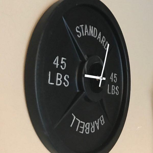 barbell wall clock, best, clocks, buy clock, buy barbell clock, weight plate clock