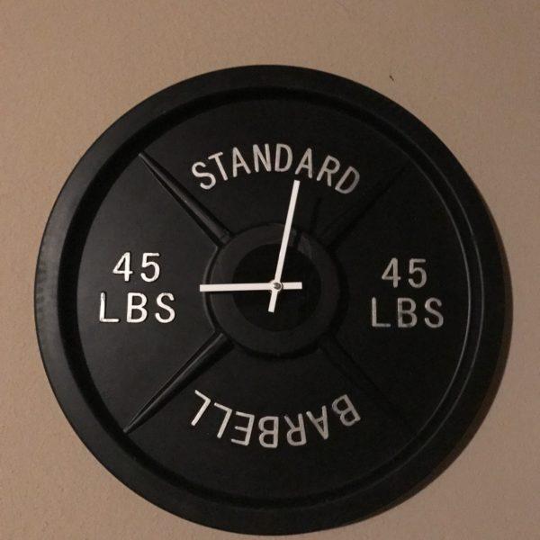 best barbell wall clock, best, clocks, weight plate, fake clock