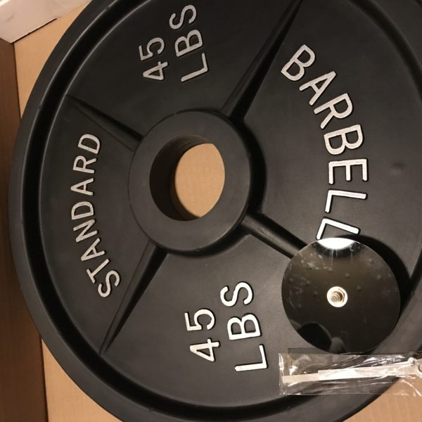 Barbell weight wall clock, gym clock, weight clock, weightlifting clock