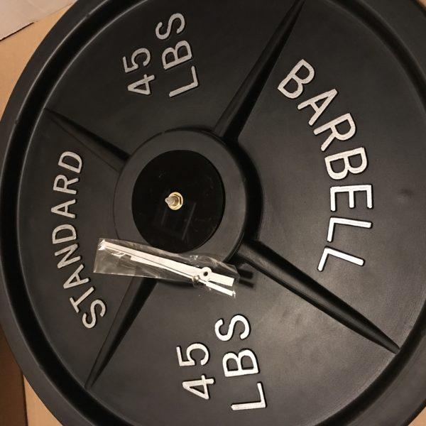 Gift, Barbell wall clock, gym clock, weight clock, weightlifting clock