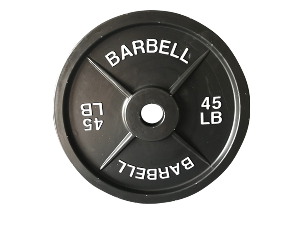 fake weights single 45lb barbell prop fake weights 1 single