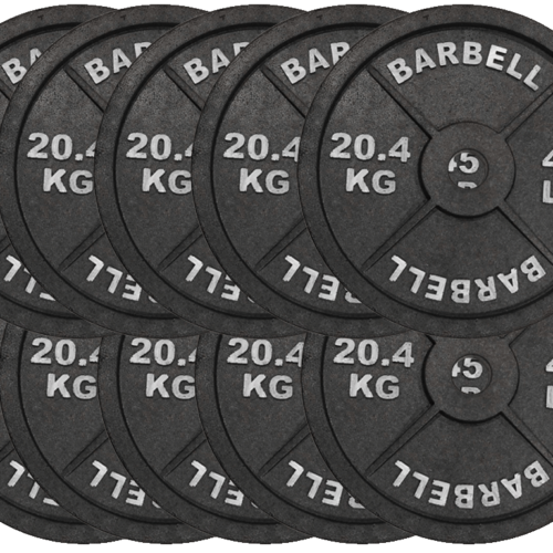 fake weights, fake 45lb, fake 45 lb weights, plates, crossfit, display weights, plastic, styrofoam