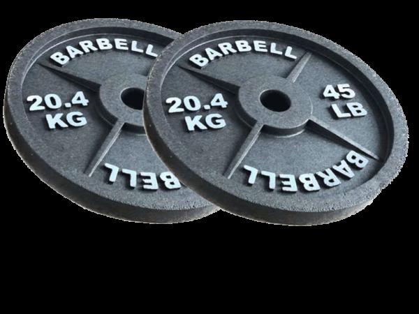 fake 45 lb barbell styrofoam