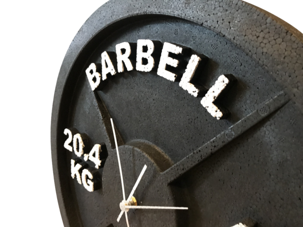 Wall Clock Barbell Plate